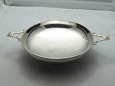 Superb Solid Sterling Silver Shallow Fruit Grape  Bowl - 1919
