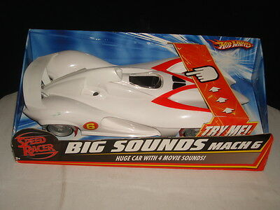 New Hot Wheels Speed Racer  Big Sounds Mach 6