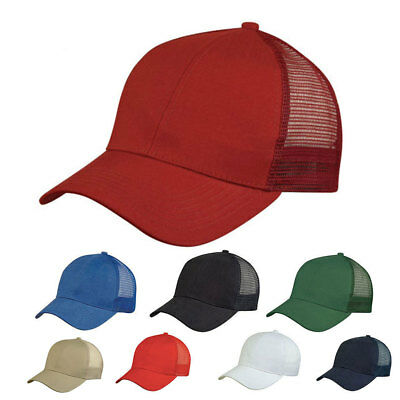1 Dozen Light Weight Brushed Cotton Mesh Baseball Hats Cap Caps WHOLESALE BULK