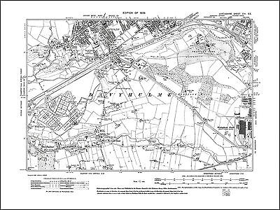 Old map of Eccles (S), Davyhulme, Lancs 1909: 103SE repro