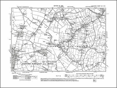 Old map of Winwick, Croft, Little Town, Lancs 1908: 109NW repro