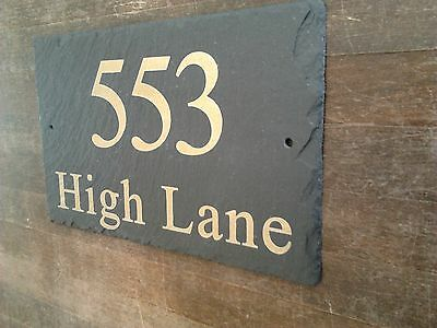 Slate House Signs - Crafted By Master Craftsmen with Airbrushed Acrylic