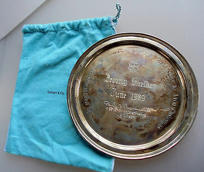 TIFFANY & CO Sterling Silver 925-1000 AVON 25 year Recognition plate 8.9 oz