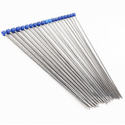 20PCS 10 Size Carbonized Stainless steel Single Pointed Crochet Knitting Needles