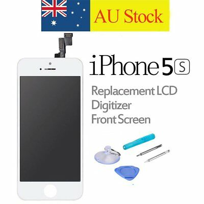 For iPhone 5S Replacement LCD Digitizer Front Screen Display Assembly Kit White