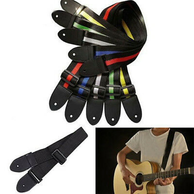 New Sell Acoustic Electric Guitar Bass Nylon Adjustable Strap Belt Guitar Strap