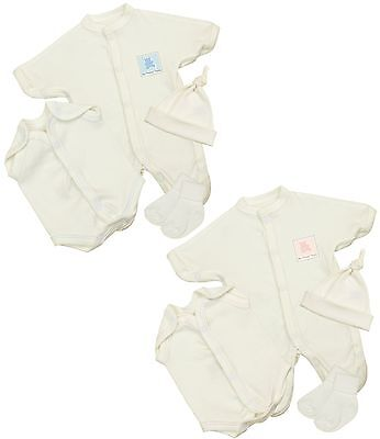 BABYPREM Preemie Micro Baby Clothes Intensive Care Sleeper Hat Vest Socks 1-3 lb