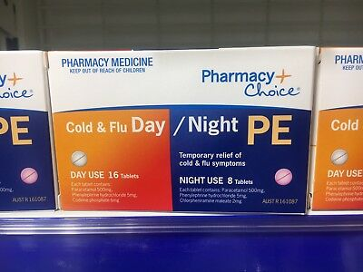 Same As  Codral Sudafed Demazin Cold And  Flu Day/night 24 Tablets  (Chemmart)