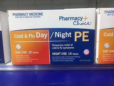 Same As  Codral Sudafed Demazin Cold And  Flu Day/night 48 Tablets  (Chemmart)