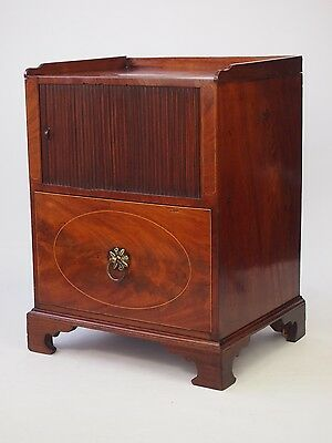 Antique Georgian Mahogany Side Cabinet -Regency Bedside Commode Pot Cupoard