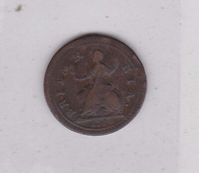 1719 George I Copper Farthing In A Used Fine Condition