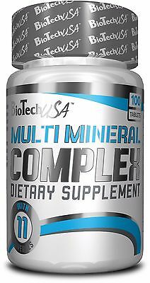 BioTech USA MULTI MINERAL COMPLEX 100 Tablets Strong Complex for men & woman !!!