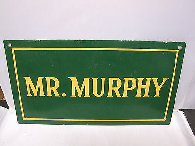 vintage Atherstone Hunt horse box name plate MR MURPHY