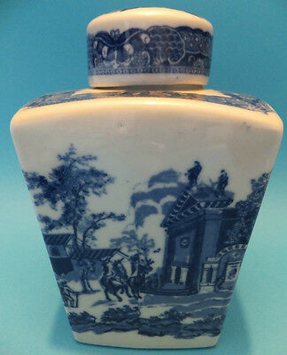 Vintage Ironstone Wade Pot Ceramic With Lid Blue & White Oriental Style Rare