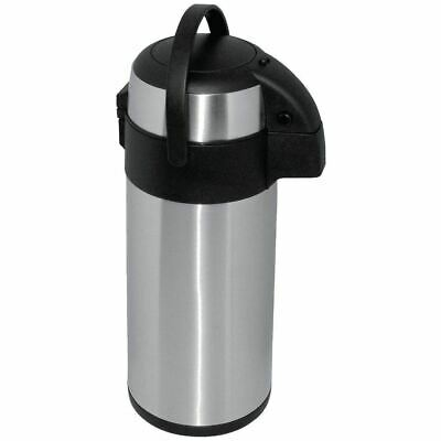 Olympia Pump Action Airpot 5Ltr | Stainless Steel Teapot Thermo Flask