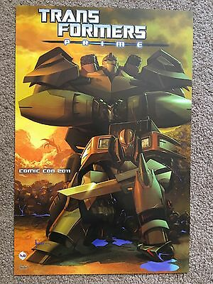 TRANSFORMERS PRIME Original POSTER NEW Exclusive HUB Comic Con