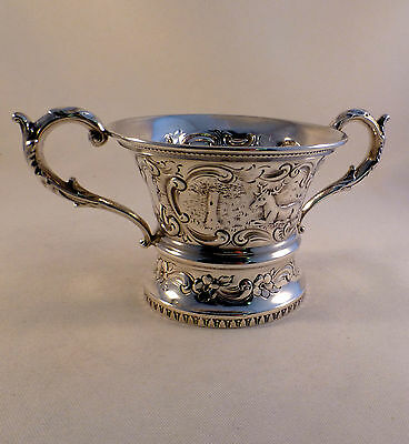 "Beautiful Figural Sterling Large Open Sugar Bowl -3"" Tall"