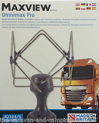 Maxview OMNIMAX PRO - GREY - 360 Degree TV/FM/DAB Aerial
