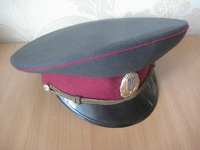 Ukrainian Militia Officer Visor Cap made in 1990's
