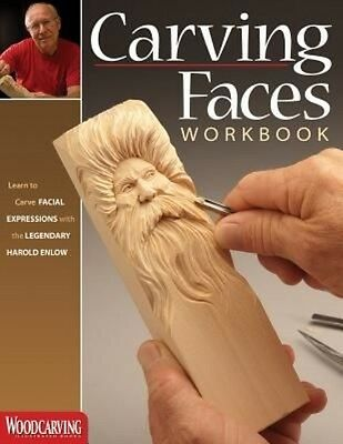Carving Faces Workbook by Harold Enlow (English)