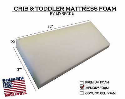 "Mybecca 27""W x 52""L Crib & Toddler Bed Mattress Cushion Topper & Playpen Pad"