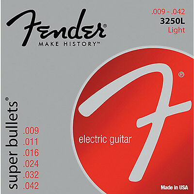 Fender Super Bullets 3250L Nickel Plated Steel Light 9-42 strings 0733250403
