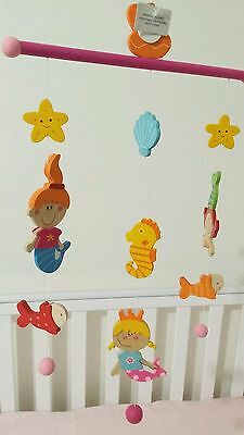 Wooden Baby Mobile for Cot/ Crib/ Nursery Decor+Baby Development+Newborn gift-S