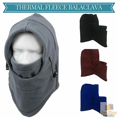THERMAL FLEECE BALACLAVA Ski Snowboard Motorbike Face Mask Hood Hat Beanie Warm