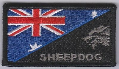 Thin Blue Line, Sheepdog, Police Patch, Hook, Law Enforcement, TBL, Colour