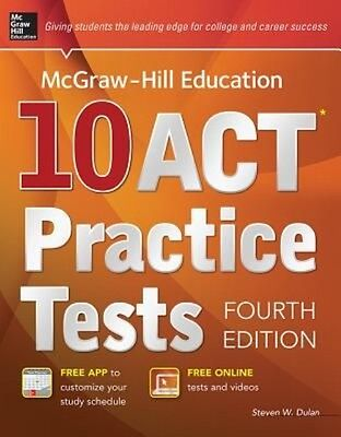 Mcgraw-hill Education 10 Act Practice Tests by Steven W. Dulan Paperback Book (E