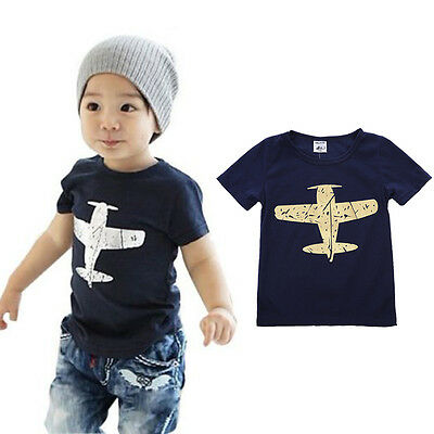 Free Shipping Baby Kids Boys Cartoon Tops T-shirt Tee Age 1-8 Years