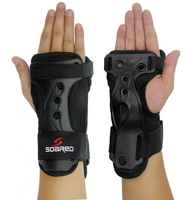 Skateboard Skating Ski Wrist Guard Protect Support Gloves Carpal Tunnel Brace