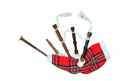 Kids Toy Bagpipe/Junior Playable Bagpipes/Child Bagpipe Royal Stewart White Cord