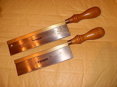 2 x Tyzack Sons & Turner Gentlemans Saws / Dovetail Saws - As Photo