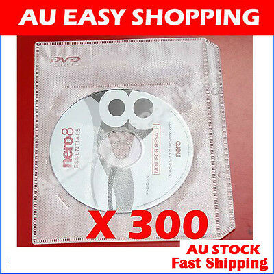 High quality 300 White CD DVD sleeves For dvd + Movie cover Storage ebox Brand D