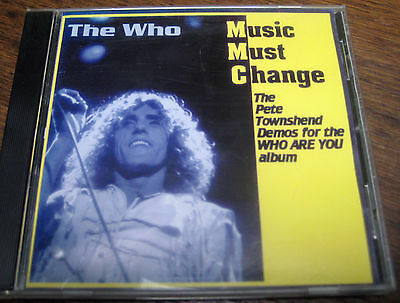 The Who~Music Must Change~Pete Townshend Demos~ Noriaa ~Ptw01~1996~  Rare Ex+