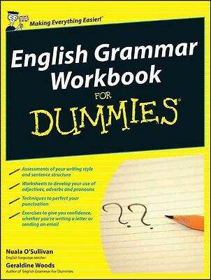 English Grammar Workbook For Dummies by Nuala O'Sullivan Paperback Book (English