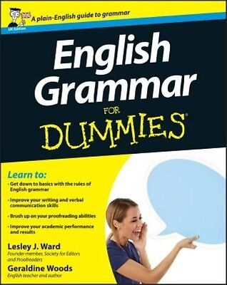English Grammar For Dummies by Geraldine Woods Paperback Book (English)