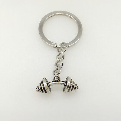 BARBELL WEIGHT Charm Keychain * Fitness Crossfit Bodybuilding Gym