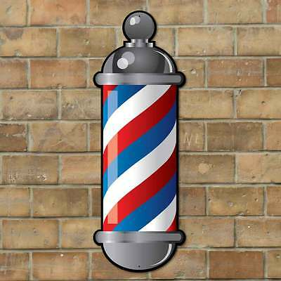 Reflective Barbers Pole Sign, Barbers Hairdressing, Outdoor Advertising sign