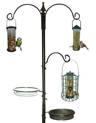 Traditional Bird Feeding Station Kingfisher Black Metal Garden Wild Birds Care