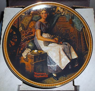 Knowles 'Dreaming In The Attic' Collector Plate-COA-NIB-Norman Rockwell-Women