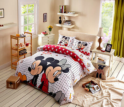 Disney Licensed Mickey Minnie 7Pcs Twin Full Queen Comforter In A Bag Mm3777
