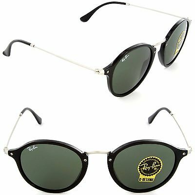 (NEW) Ray-Ban ICONS RB 2447 901 Sunglasses Black / Green Lens