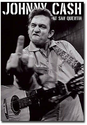 "Johnny Cash san quentin portrait Fridge Toolbox Magnet Size 2.5"" x 3.5"""