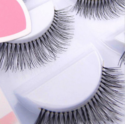 5 Pairs Natural Sparse Eye Lashes Extension Makeup Long False Eyelashes Soft AU