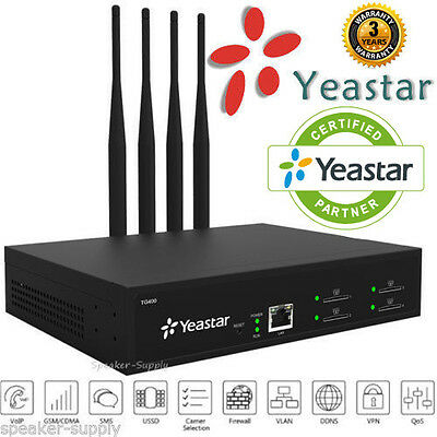 Yeastar NeoGate TG400 GSM VoIP Gateway 4 Channel CDMA UMTS IAX2 MAKE OFFER
