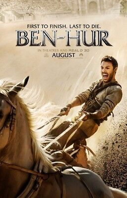 BEN-HUR MOVIE POSTER 2 Sided ORIGINAL Advance 27x40 JACK HUSTON NAZANIN BONIADI