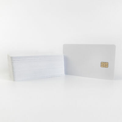 100pcs Inkjet Printable PVC Card with SLe4442 Chip Smart Contact IC Blank
