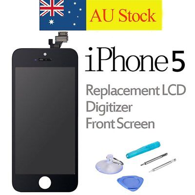 For iPhone 5 Replacement LCD Digitizer Front Screen Display Assembly Panel Black